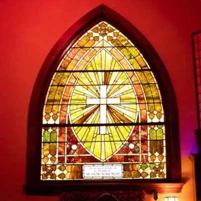 Stained Glass in Charity Venue